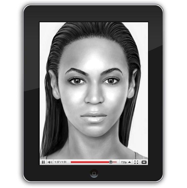 Beyonce Portrait Created Using Apple iPad