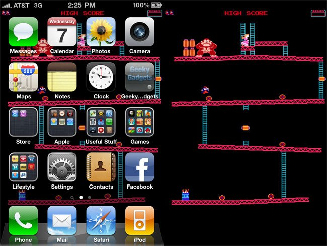 Donkey Kong IOS 4 IPhone 4 Wallpaper