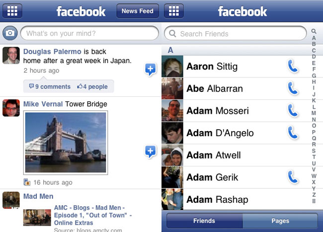 Facebook iPhone App Gets Updated For iOS 4