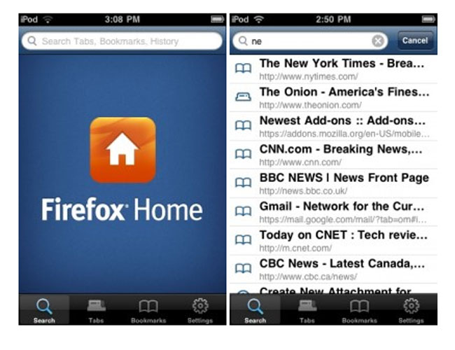 Firefox Home iPhone