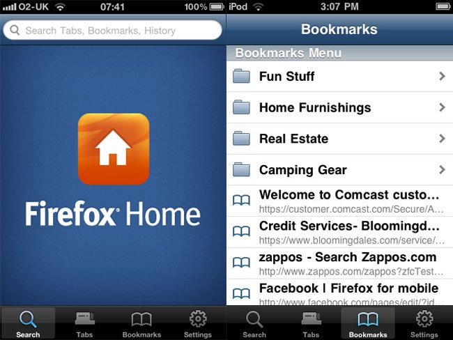 Mozilla Firefox Home Browser iPhone App Now Available