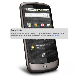 Nexus One Sold Out