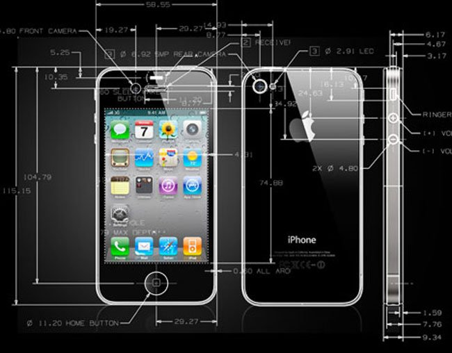 iPhone 4 CAD Drawings