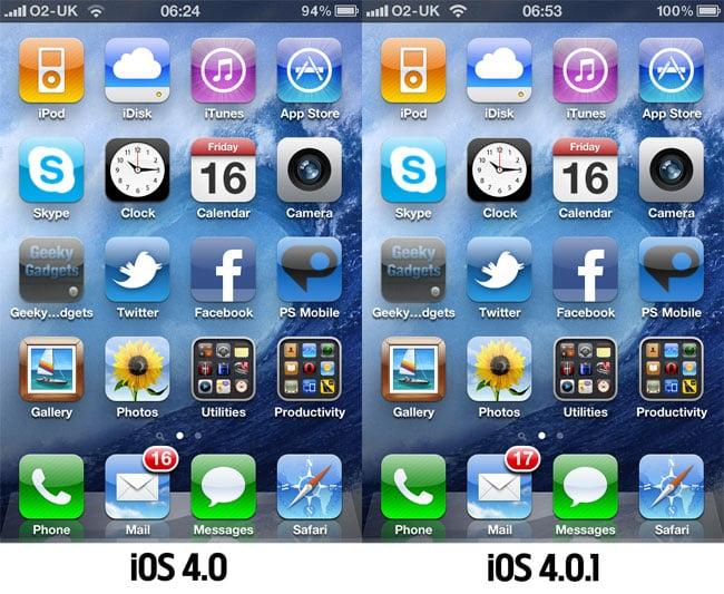 Apple Releases iOS 4.0.1 Update