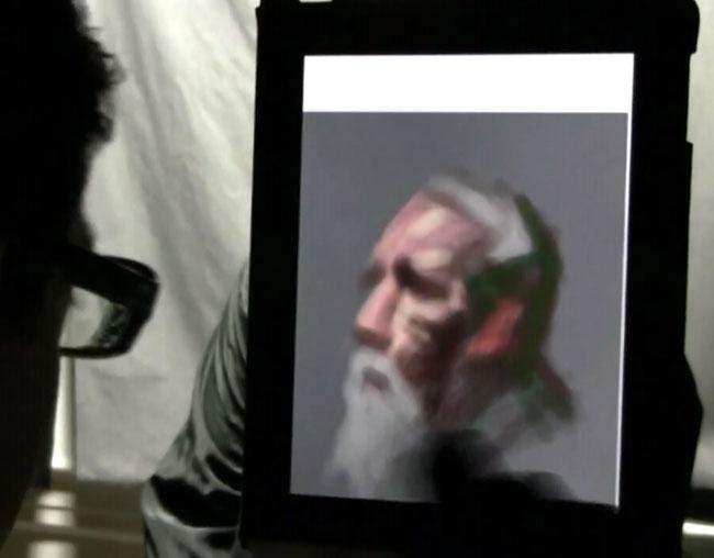 Artist uses ipad