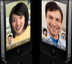 iPhone 4 facetime.