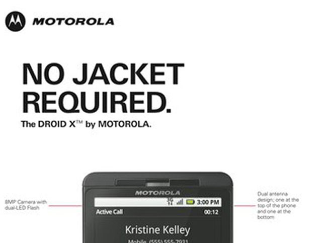 Motorola's Latest Droid X Advert Takes A Stab At Apple