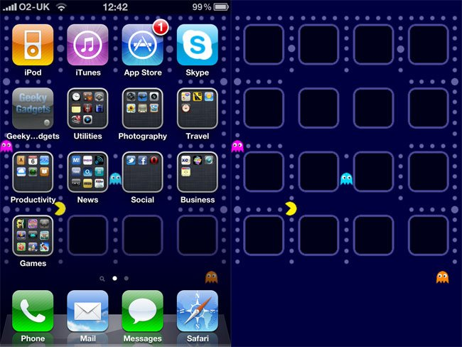 Pac Man Ios 4 Wallpaper For Your Iphone 4