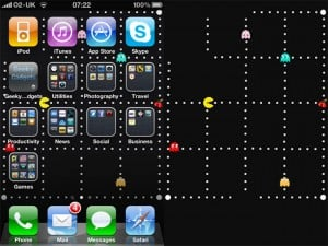 Pac-Man iOS 4 wallpaper