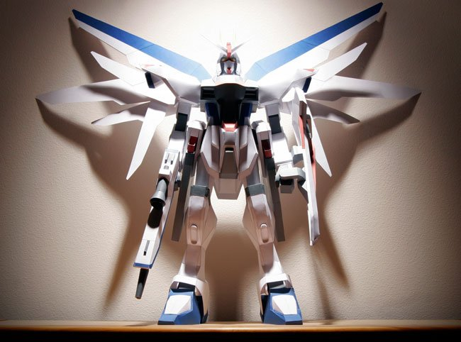 Four Foot Papercraft Freedom Gundam Is Awesome