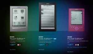 Sony Cuts eReader Prices