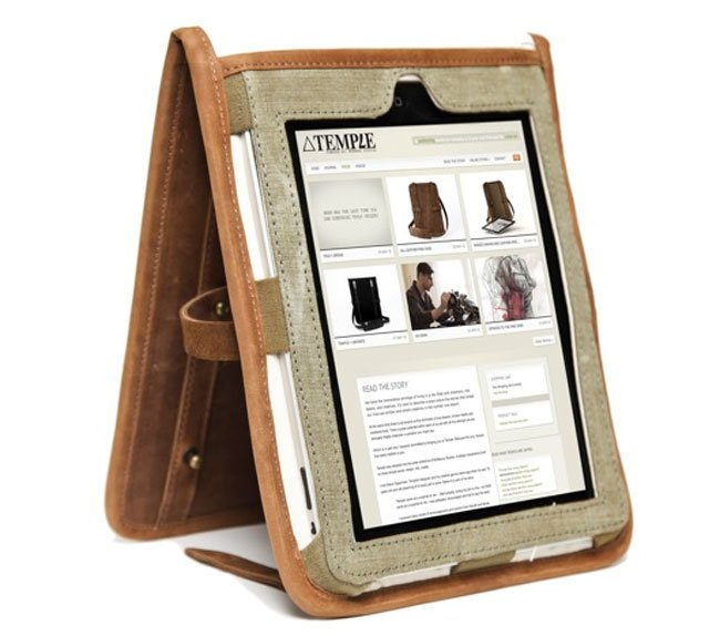 Temple Leather iPad Case