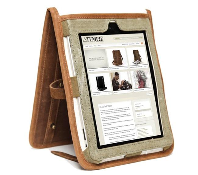 Temple Leather iPad Case