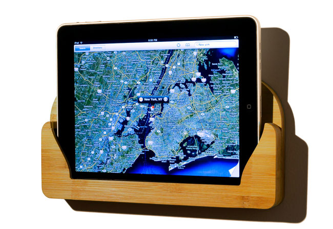 The Bamboo iPad Wall Mount