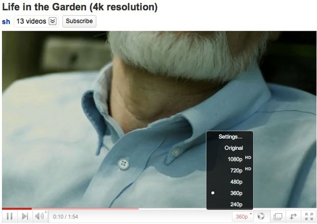 Youtube 4k video