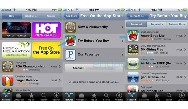 Apple App Store Try Before You Buy