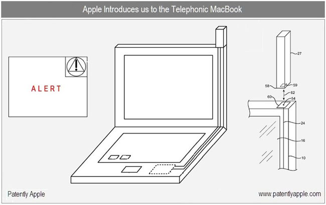 Apple Files A Telephonic MacBook Patent
