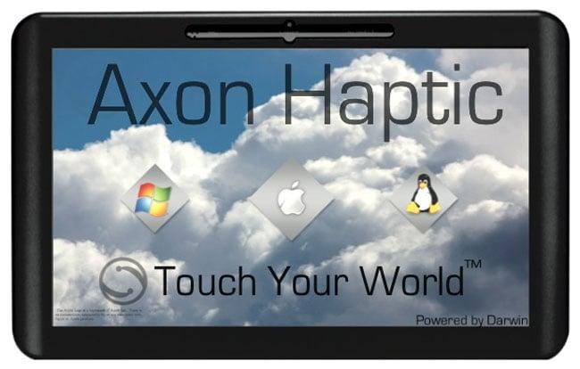 Axon Logic Haptic Tablet Runs OS X