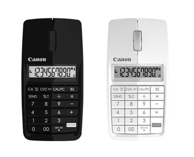 Canon X Mark I Mouse, Features A Built In Calculator