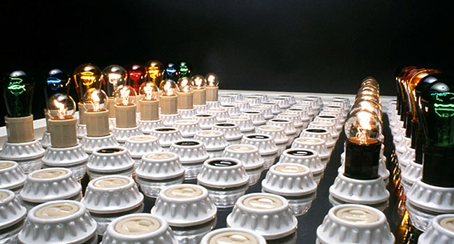 Electric Light Chess Set