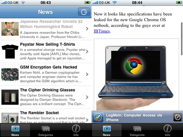 Site Annoucement - Geeky Gadgets iPhone App Problems