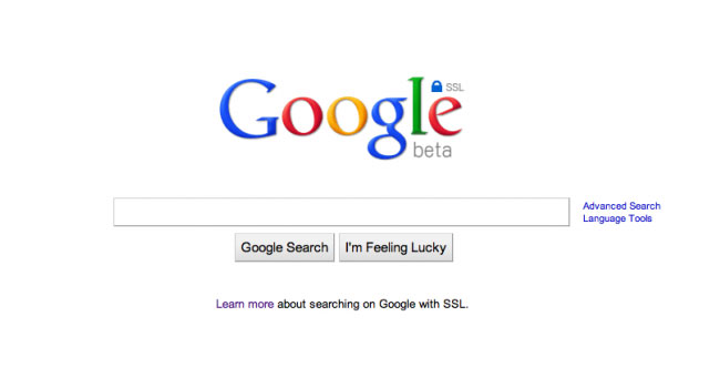 Google SSL Web Search