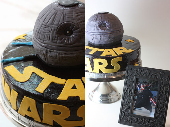 Cool star wars death star birthday cake over at lisa's flickr page