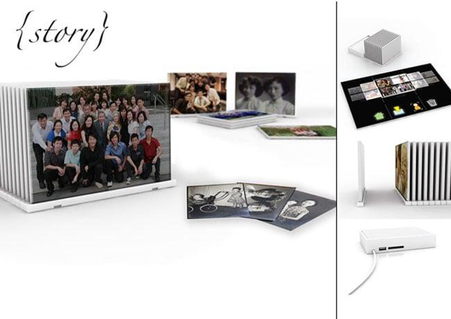 Story photo frame concept