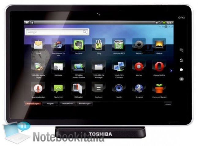 Toshiba Folio 100 Smart Pad Android Tablet Unveiled