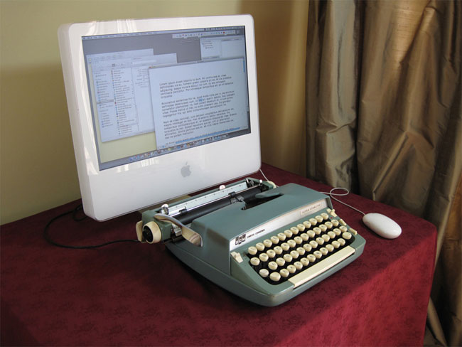 Turn Your Old Typewriter Into a Mechanical Mac Keyboard