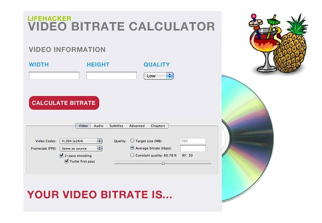 Video Bitrate Calculator