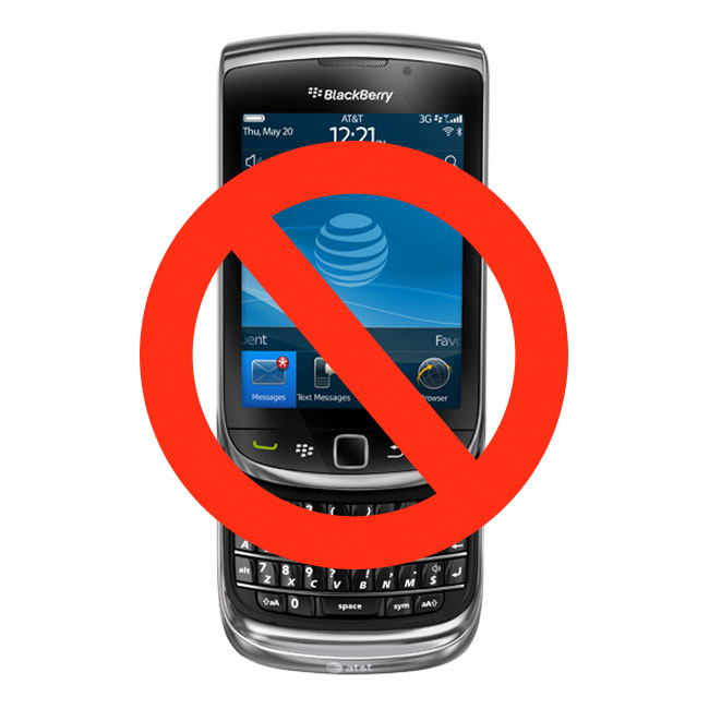 Saudi Arabia Bans BlackBerry Smartphones