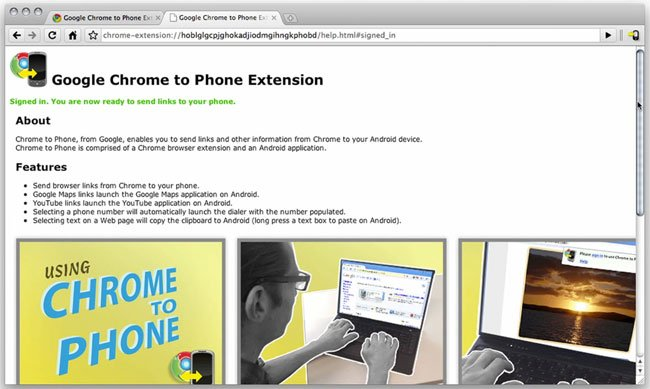 Chrome to Phone