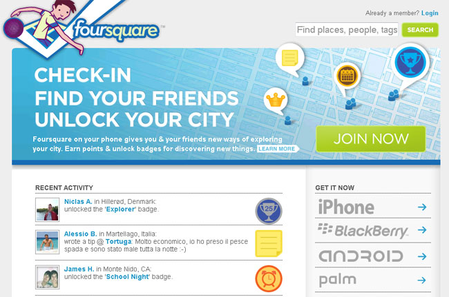 Foursquare Now Has 3 Millions Users