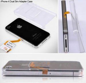 iPhone 4 Dual Sim Adapter Case