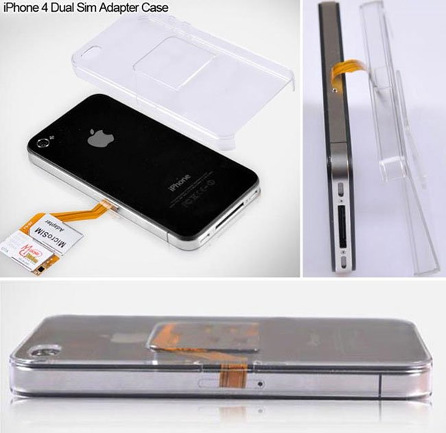 iPhone 4 Dual Sim Adapter Case