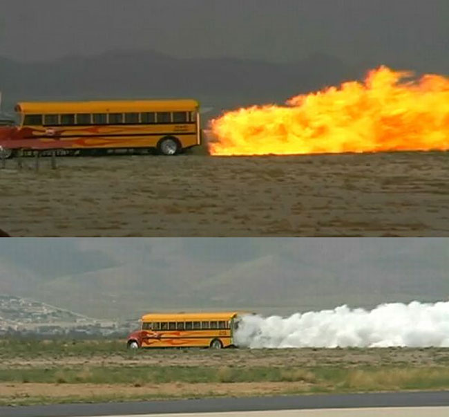School Bus Fitted With Jet Engine, Does 367 MPH