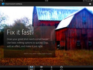 Photoshop Express iPad, iPhone App Released