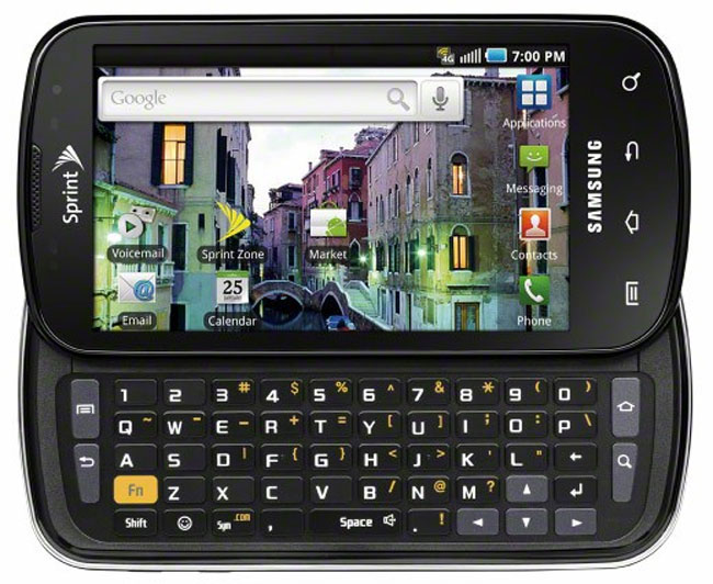 The Sprint Samsung Epic 4G features a full QWERTY keyboard, and will