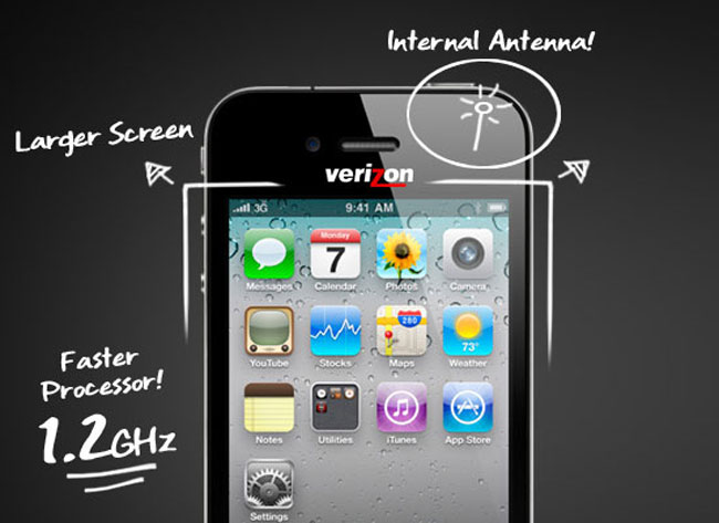 Verizon iPhone To Feature 1.2GHz Processor, Larger Display?