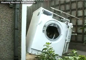 Washing Machine Filled with Bricks Explodes