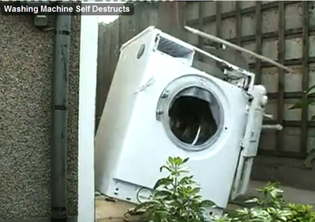 Washing Machine Filled with Bricks Explodes - Geeky Gadgets