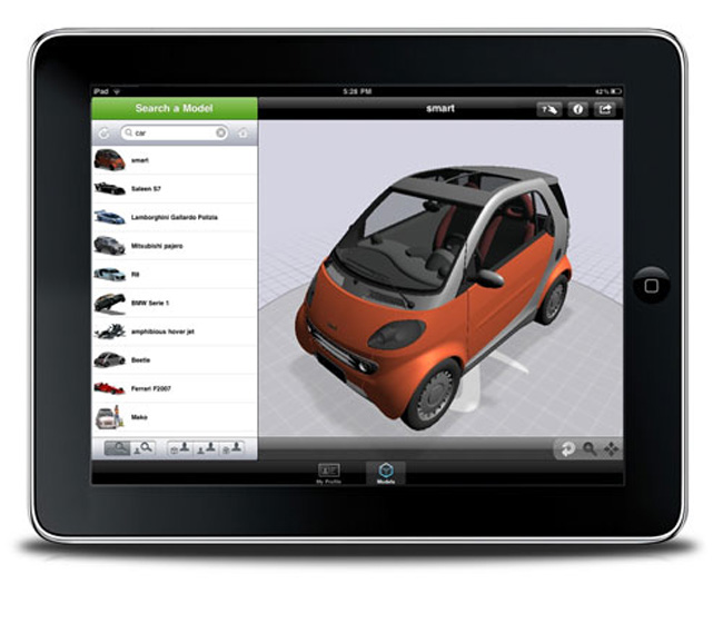 3DVIA Launches iPad 3D Model Viewer Application