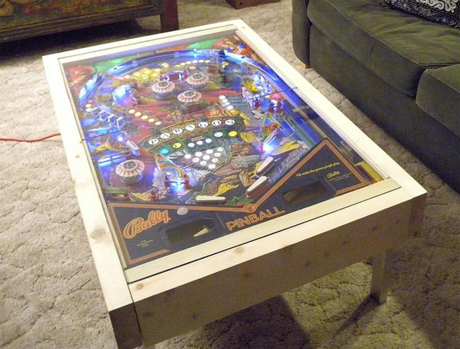 diy pinball machine coffee table. Black Bedroom Furniture Sets. Home Design Ideas