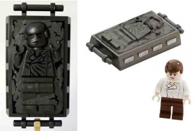 Han Solo In Carbonite Lego Minifig