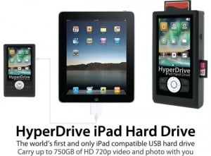 HyperDrive iPad Hard Drive Gives Your iPad 750GB Of Extra Storage