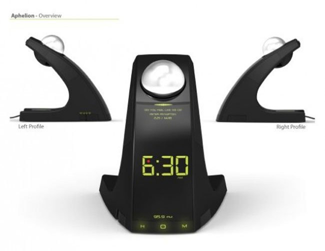 LED Alarm Clock Concept Throws A Ball To Make You Get Up