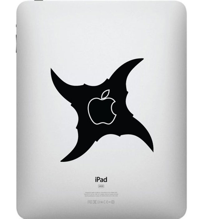 Ninja Throwing Star IPad Decal Ideal For Steve Jobs