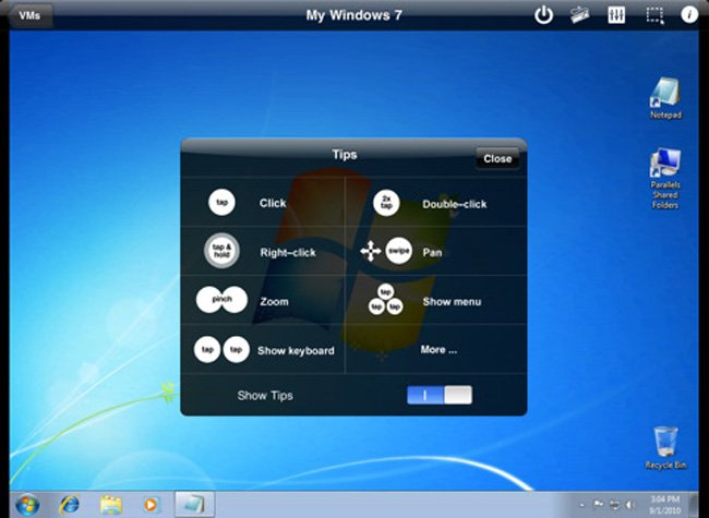 Parallels Mobile iPad App