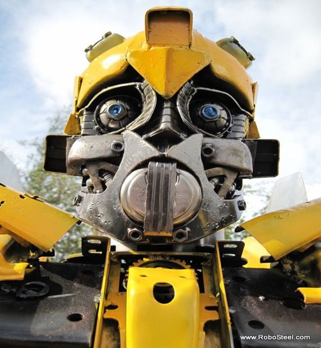 Recycled Bumblebee Made From A Camaro